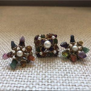 Jewelry - Vintage Set (Ring & Earrings)
